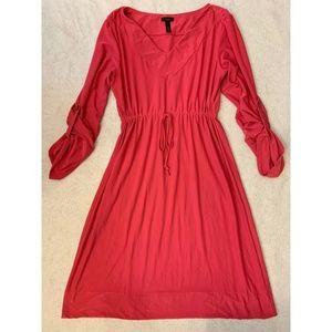 Soma Live Lounge Wear Drawstring Dress Sz XS Pink